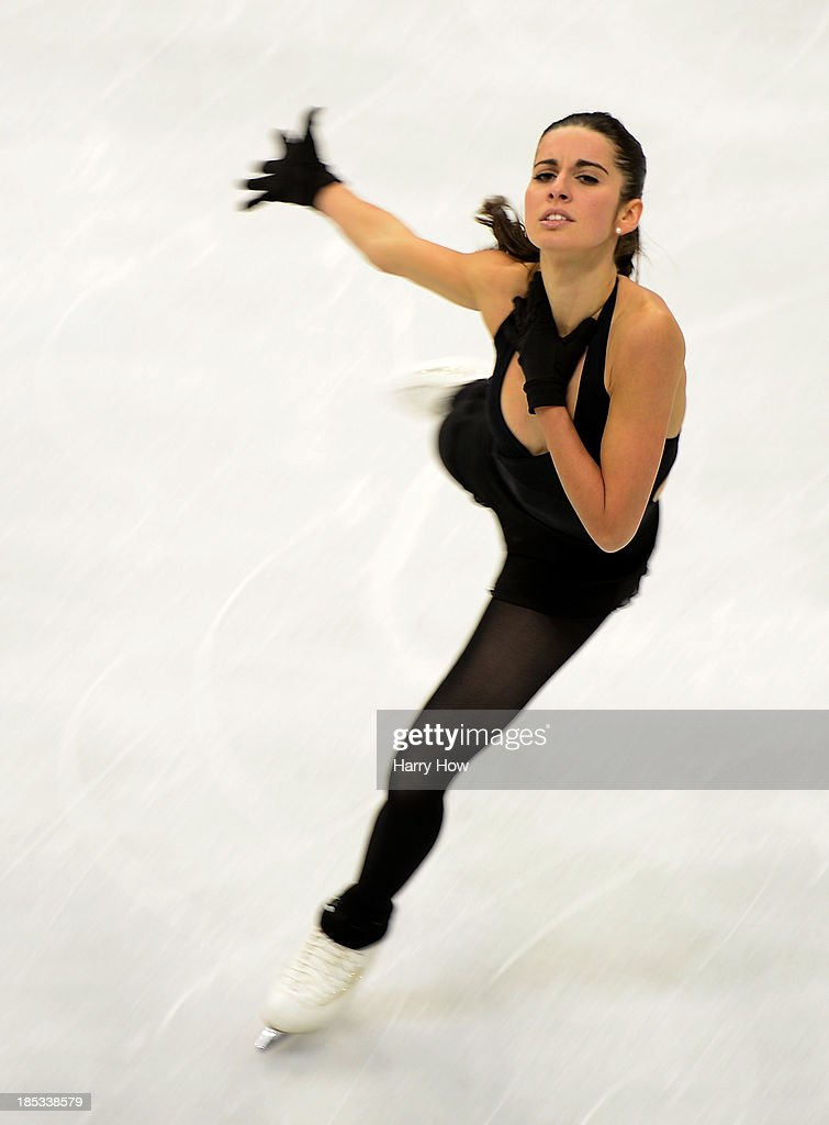 Valentina Marchei of Italy skates during practice for Skate America 2013 at Joe Louis Arena on October 18, 2013 in Detroit, Michigan.
