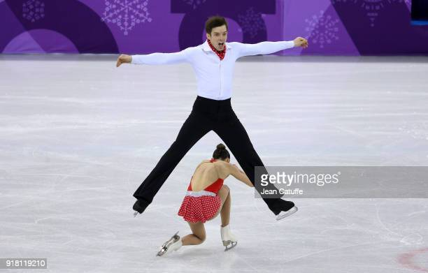 Valentina Marchei Ondrej Hotarek of Italy during the Figure Skating Pairs Skating Short Program on day five of the PyeongChang 2018 Winter Olympic...