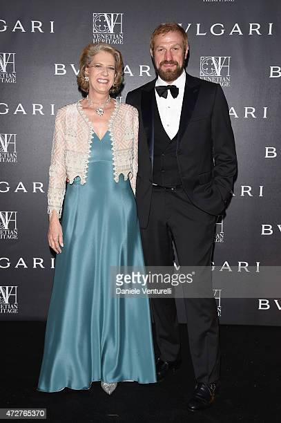 Valentina Marini Clarelli and Toto BergamoRossi attend the Venetian Heritage And Bulgari Gala Dinner at Cipriani Hotel on May 9 2015 in Venice Italy
