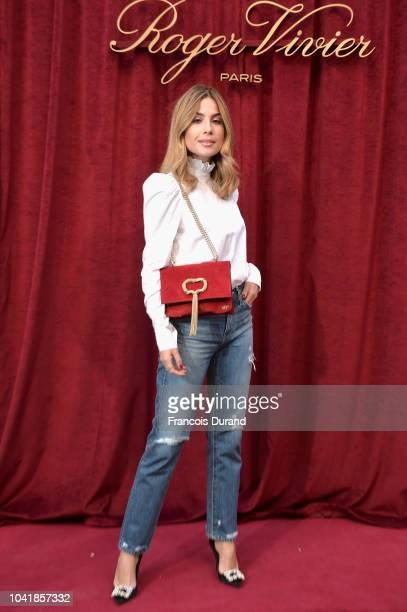 Valentina Marzullo attends the Roger Vivier Presentation Spring/Summer 2019 during Paris Fashion Week on September 27 2018 in Paris France