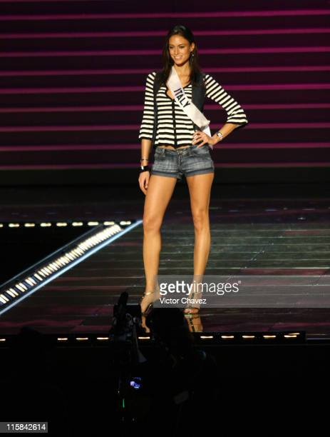 Valentina Massi Miss Universe Italy 2007 during Miss Universe 2007 Rehearsals at Auditorio Nacional in Mexico City Mexico City Mexico