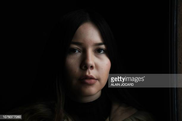 Valentina Mennesson one of the twins symbolizing the fight for the recognition of children born by surrogacy abroad poses on January 8 in Paris...