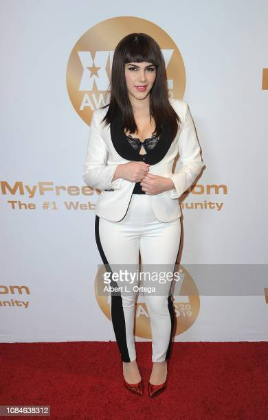 Valentina Nappi arrives for the 2019 XBiz Awards held at The Westin Bonaventure Hotel Suites on January 17 2019 in Los Angeles California