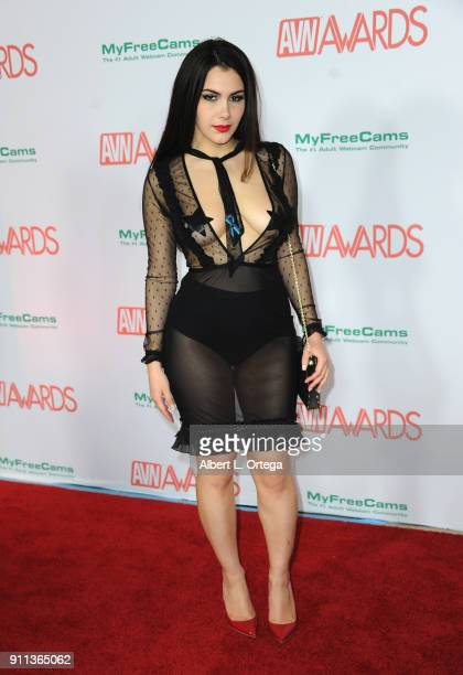 Valentina Nappi attends the 2018 Adult Video News Awards held at Hard Rock Hotel Casino on January 27 2018 in Las Vegas Nevada
