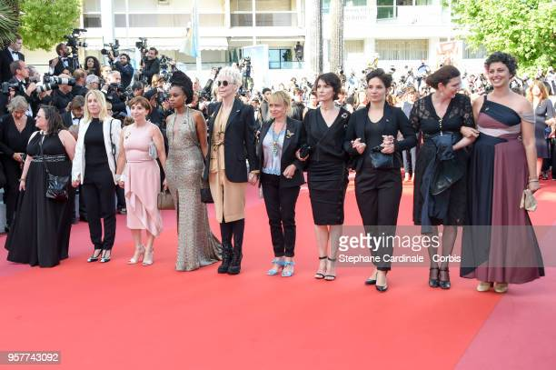 Valentina Novati Diane Elbaum Ariane Ascaride Laurence Lascary Tonie Marshall Rosalie Varda and filmmakers at the screening of 'Girls Of The Sun '...