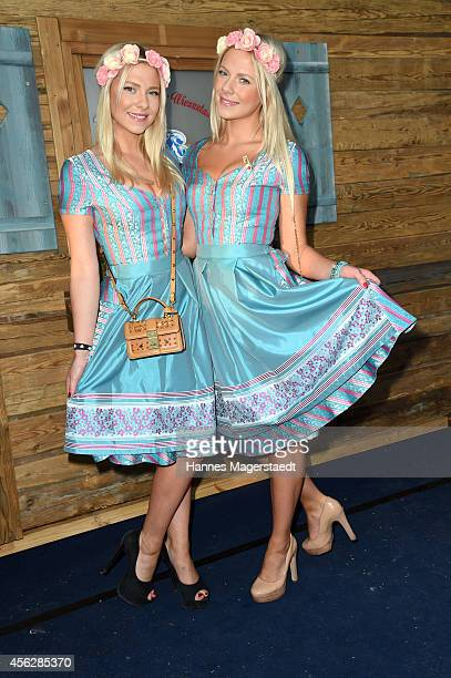 Valentina Pahde and Cheyenne Pahde attend Humavaria Premiere At Oktoberfest 2014 during Oktoberfest at Theresienwiese on September 28, 2014 in...