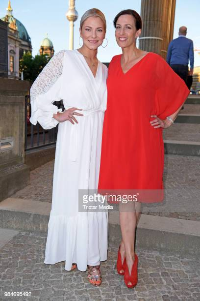 Valentina Pahde and Ulrike Frank attend the BURDA Summer Party on June 26 2018 in Berlin Germany
