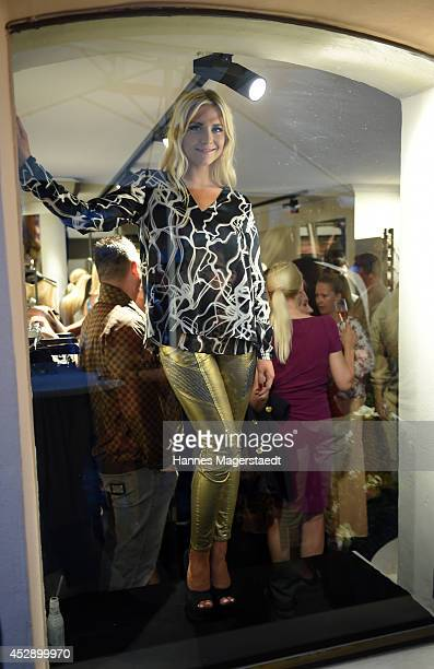 Valentina Pahde attends the Marcus Heinzelmann Boutique Opening on July 29 2014 in Munich Germany