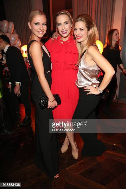 Valentina Pahde LaraIsabelle Rentick and Susan Sideropoulos during the Berlin Opening Night by GALA and UFA Fiction at Das Stue on February 15 2018...