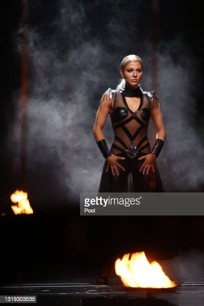 """Valentina Pahde performs on stage during the 11th show of the 14th season of the television competition """"Let's Dance"""" on May 21, 2021 in Cologne,..."""
