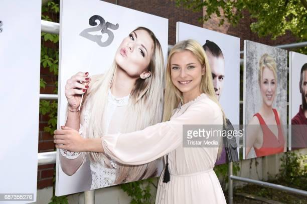 Valentina Pahde pose during the portrait exhibition to celebrate 25th anniversary of tv series 'Gute Zeiten, schlechte Zeiten' at Filmpark Babelsberg...