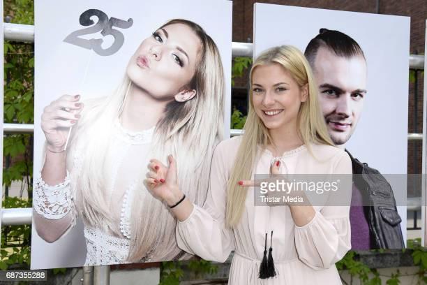 Valentina Pahde poses during the portrait exhibition to celebrate 25th anniversary of tv series 'Gute Zeiten schlechte Zeiten' at Filmpark Babelsberg...