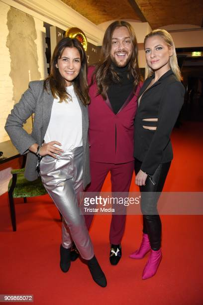 Valentina Pahde Riccardo Simonetti and Chryssanthi Kavazi during the GRACE Restaurant Celebrates 3 Year Anniversary at Hotel Zoo on January 24 2018...