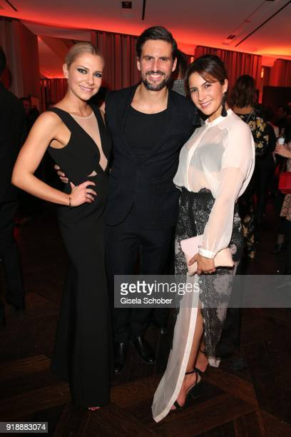 Valentina Pahde Tom Beck and his girlfriend Chryssanthi Kavazi during the Berlin Opening Night by GALA and UFA Fiction at Das Stue on February 15...