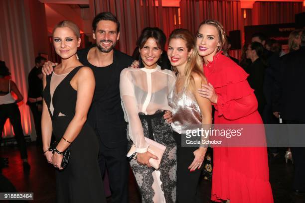 Valentina Pahde Tom Beck and his girlfriend Chryssanthi Kavazi Susan Sideropoulos and LaraIsabelle Rentick during the Berlin Opening Night by GALA...
