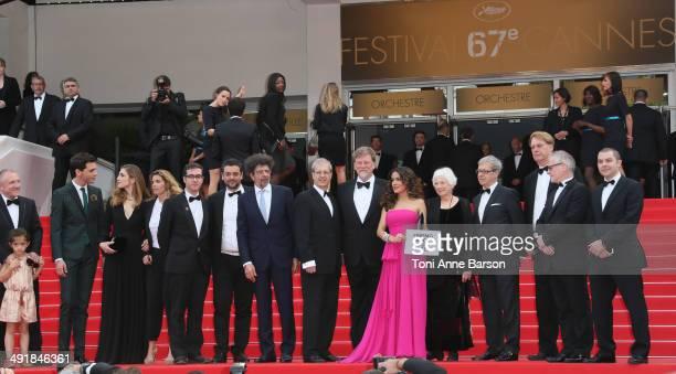 Valentina Paloma Pinault and Francois-Henri Pinault, Singer Mika, Julie Gayet, Director Paul Brizzi, Actress Salma Hayek, directors Roger Allers,...