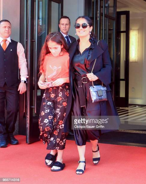Valentina Paloma Pinault and Salma Hayek are seen on May 07, 2018 in New York City.