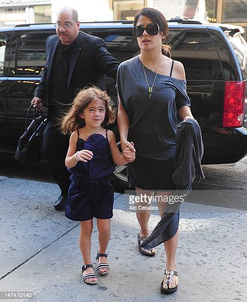 Valentina Paloma Pinault and Salma Hayek are seen on the streets of Manhattan on June 30, 2012 in New York City.