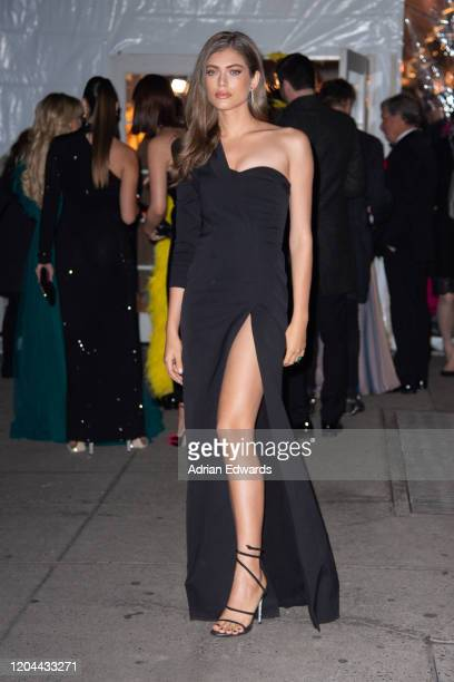 Valentina Sampaio outside the amFAR Gala held at Cipriani Wall St on February 5, 2020 in New York City.