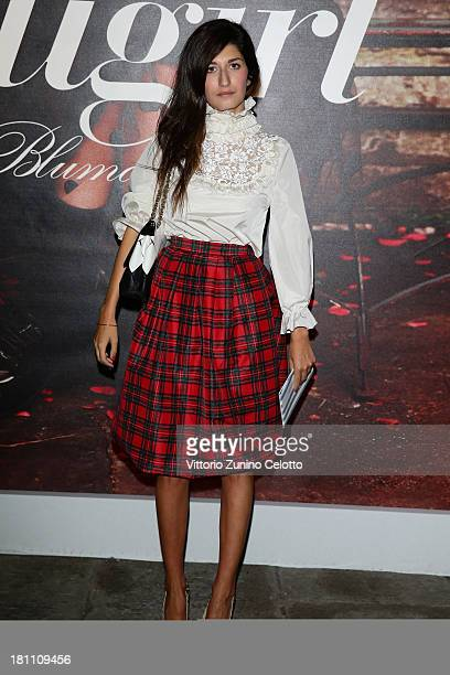 Valentina Siracusa attends the Blugirl show as a part of Milan Fashion Week Womenswear Spring/Summer 2014 on September 19 2013 in Milan Italy