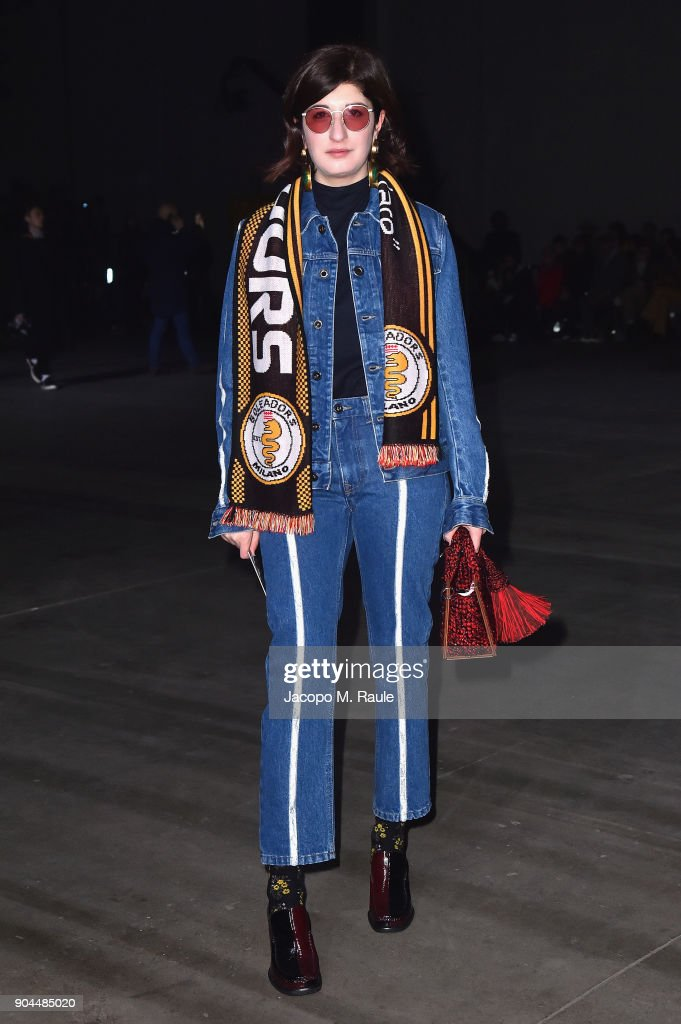 Valentina Siragusa attends the Diesel Black Gold show during Milan Men's Fashion Week Fall/Winter 2018/19 on January 13, 2018 in Milan, Italy.