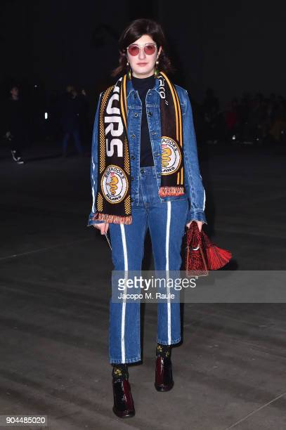 Valentina Siragusa attends the Diesel Black Gold show during Milan Men's Fashion Week Fall/Winter 2018/19 on January 13 2018 in Milan Italy