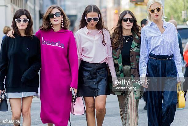 Valentina Siragusa Eleonora Carisi Erika Boldrin Linda Tol outside Lacoste on September 10 2016 in New York City