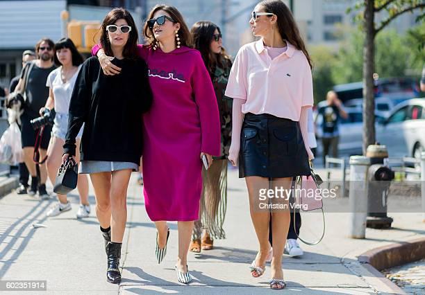 Valentina Siragusa Eleonora Carisi Erika Boldrin outside Lacoste on September 10 2016 in New York City