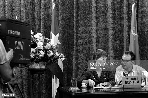 Valentina Tereshkova first cosmonaut woman on a visit to Cuba 1963