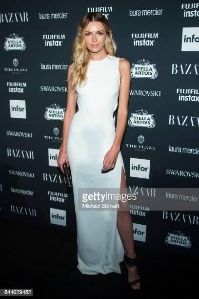 Valentina Zelyaeva attends 2017 Harper's Bazaar Icons at The Plaza Hotel on September 8 2017 in New York City