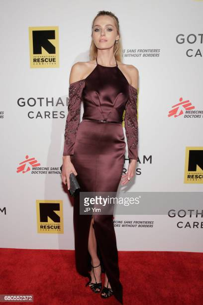 Valentina Zelyaeva attends Gotham Cares Gala Fundraiser For The Syrian Refugee Crisis In Support of Medecin Sans Frontieres and The International...