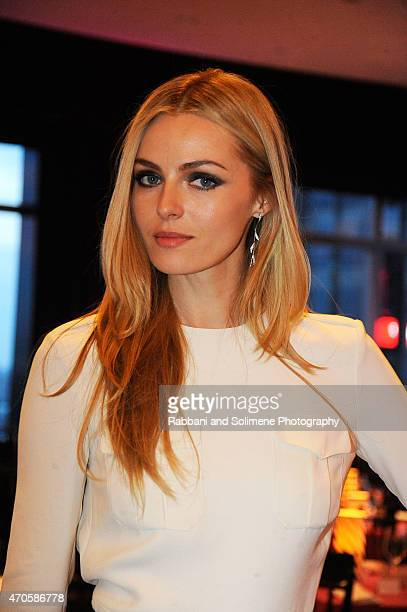 Valentina Zelyaeva attends the 2015 New Yorkers For Children A Fool's Fete Spring Dinner Dance at Mandarin Oriental New York on April 16 2015 in New...
