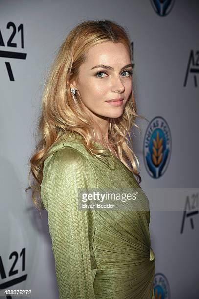 Valentina Zelyaeva attends the Unitas gala against Sex Trafficking at Capitale on September 15, 2015 in New York City.