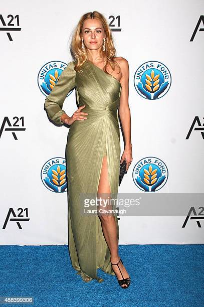 Valentina Zelyaeva attends UNITA's First Annual Gala Against Human Trafficking at Capitale on September 15 2015 in New York City