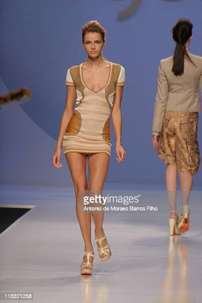 Valentina Zelyaeva wearing Byblos Spring/Summer 2007