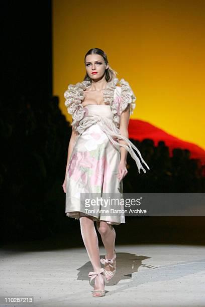 Valentina Zelyaeva wearing Valentino Haute Couture Spring/Summer 2006