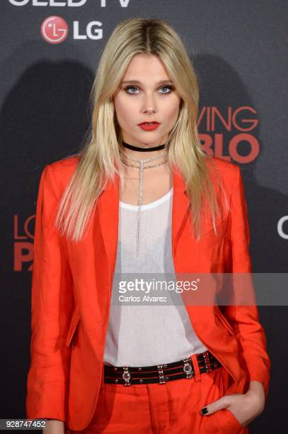 Valentina Zenere attends 'Loving Pablo' Madrid Premiere on March 7 2018 in Madrid Spain