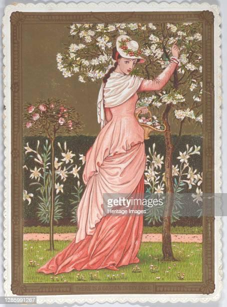 Valentine, 1876. [There is a Garden in thy Face]. Artist Walter Crane.