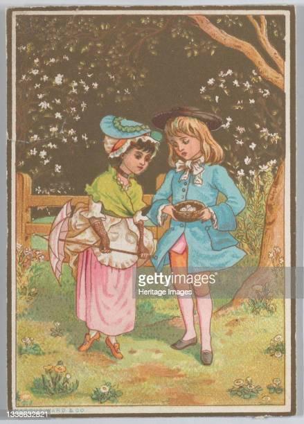 Valentine, circa 1880. Artist Catherine Greenaway.