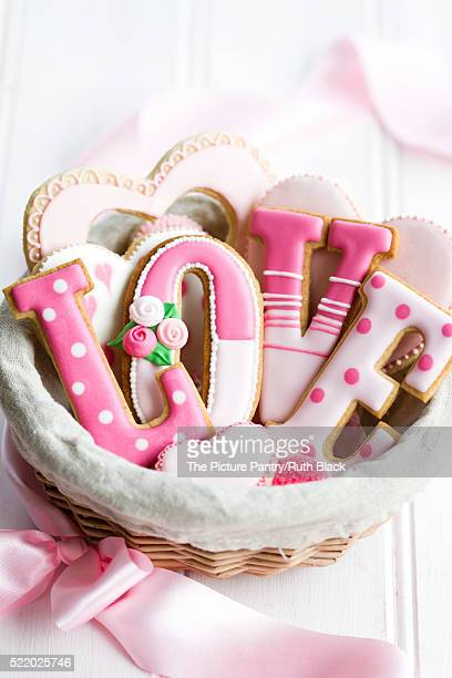 Valentine cookie gift basket