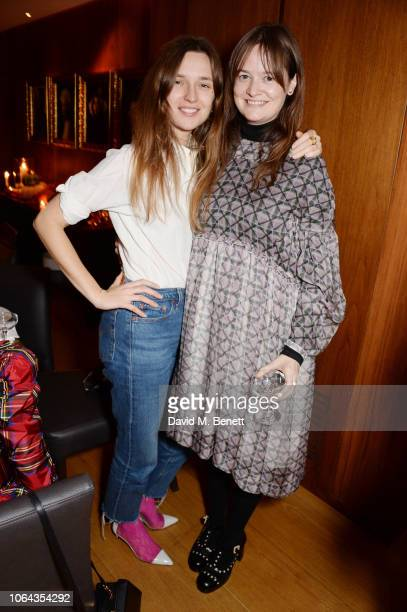 Valentine FillolCordier and Leith Clarke attend Alexa Chung's CHUNGSGIVING dinner to celebrate Thanksgiving and the launch of her exclusive...