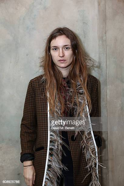 Valentine Follow Cortier attends the Isa Arfen presentation during London Fashion Week Spring/Summer collections 2017 on September 20 2016 in London...