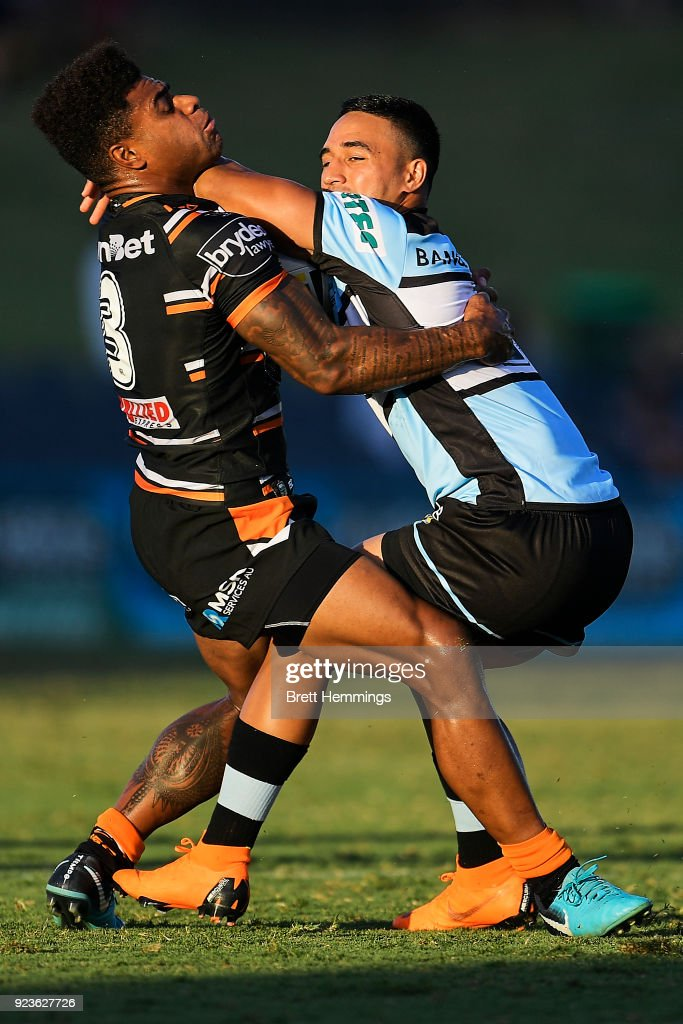 Sharks v Tigers - NRL Trial Match