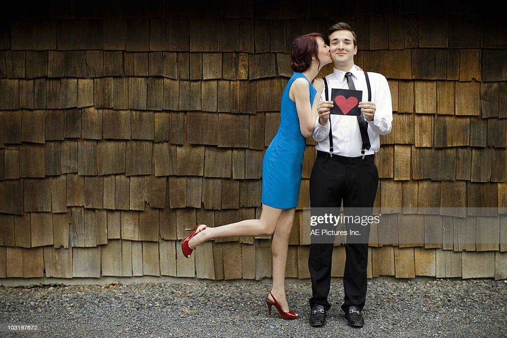 Valentine kiss : Stock Photo