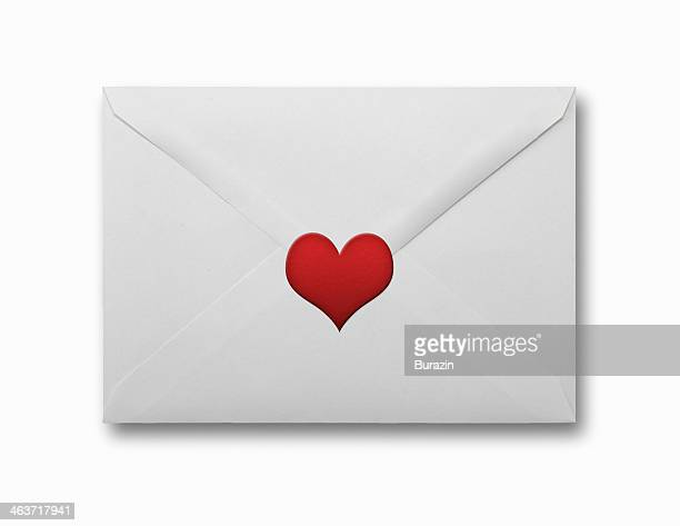 Valentine letter with a heart seal