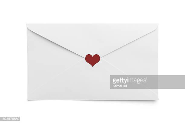 Valentine letter with a heart shape seal.