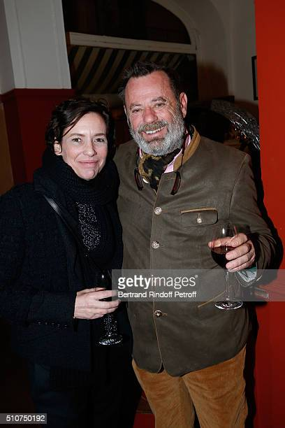 "Valentine Maillot and Louis Benech attend the Dinner following Arielle Dombasle presents her Perfume ""Le secret d'Arielle"" at Galerie Pierre Passebon..."