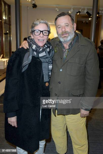 Valentine Maillot and Louis Benech attend the presentation of the Cahier N°3 of the philosophical meetings of Monaco on January 25, 2018 in Paris,...