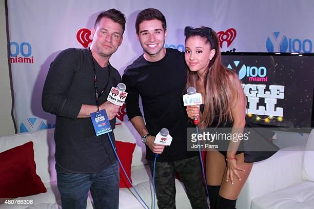 Valentine of Y100 Jake Miller and Ariana Grande attend Y100's Jingle Ball 2014 at BBT Center on December 21 2014 in Miami FL