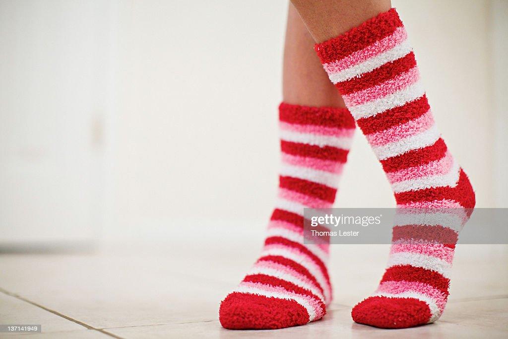 Valentine socks : Stock Photo